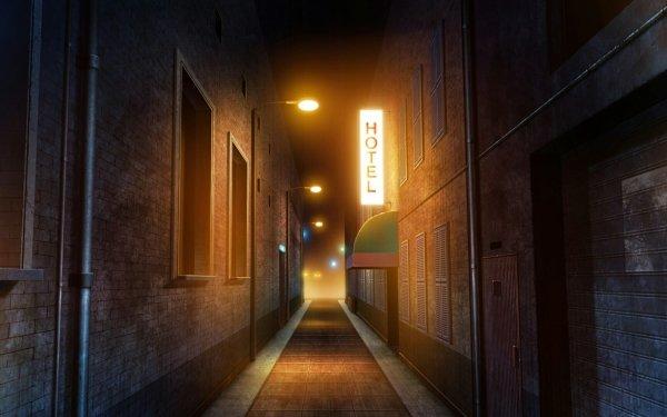 Anime Original Hotel Path HD Wallpaper | Background Image