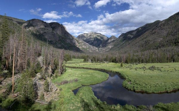 Earth Stream Forest Mountain Valley Colorado HD Wallpaper | Background Image
