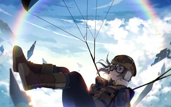 Anime Original Parachuting Fond d'écran HD | Image