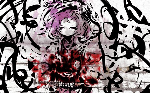 Anime Touhou Satori Komeiji HD Wallpaper   Background Image