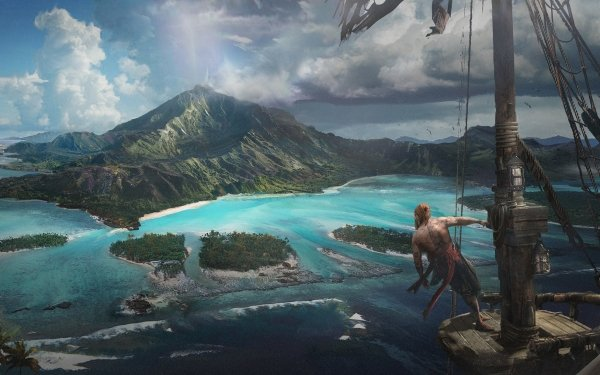 Video Game Assassin's Creed IV: Black Flag Assassin's Creed Fan Art Landscape Island Pirate HD Wallpaper   Background Image