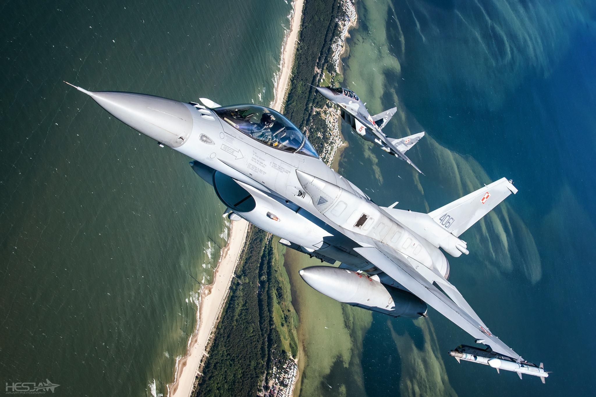 Обои force, military, F16. Авиация foto 12
