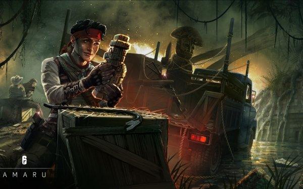 Video Game Tom Clancy's Rainbow Six: Siege Amaru HD Wallpaper | Background Image