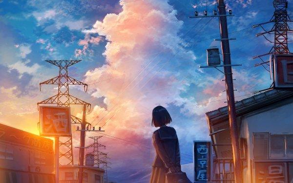Anime Original Short Hair School Uniform HD Wallpaper   Background Image