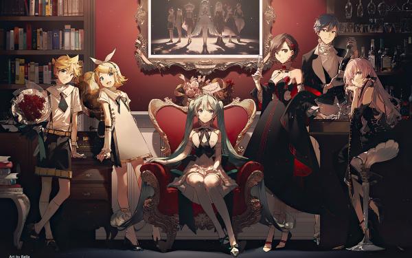 Anime Vocaloid Hatsune Miku Meiko Kaito Rin Kagamine Len Kagamine Luka Megurine HD Wallpaper   Background Image