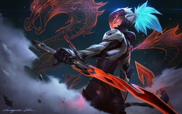 Video Game League Of Legends Akali HD Wallpaper | Background Image