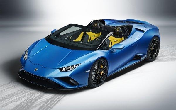 Vehicles Lamborghini Huracan Evo Lamborghini Lamborghini Huracan Car Blue Car Sport Car Supercar HD Wallpaper | Background Image