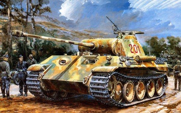 Military Panther Tank Tanks Wehrmacht Tank Panzerkampfwagen V Panther HD Wallpaper   Background Image