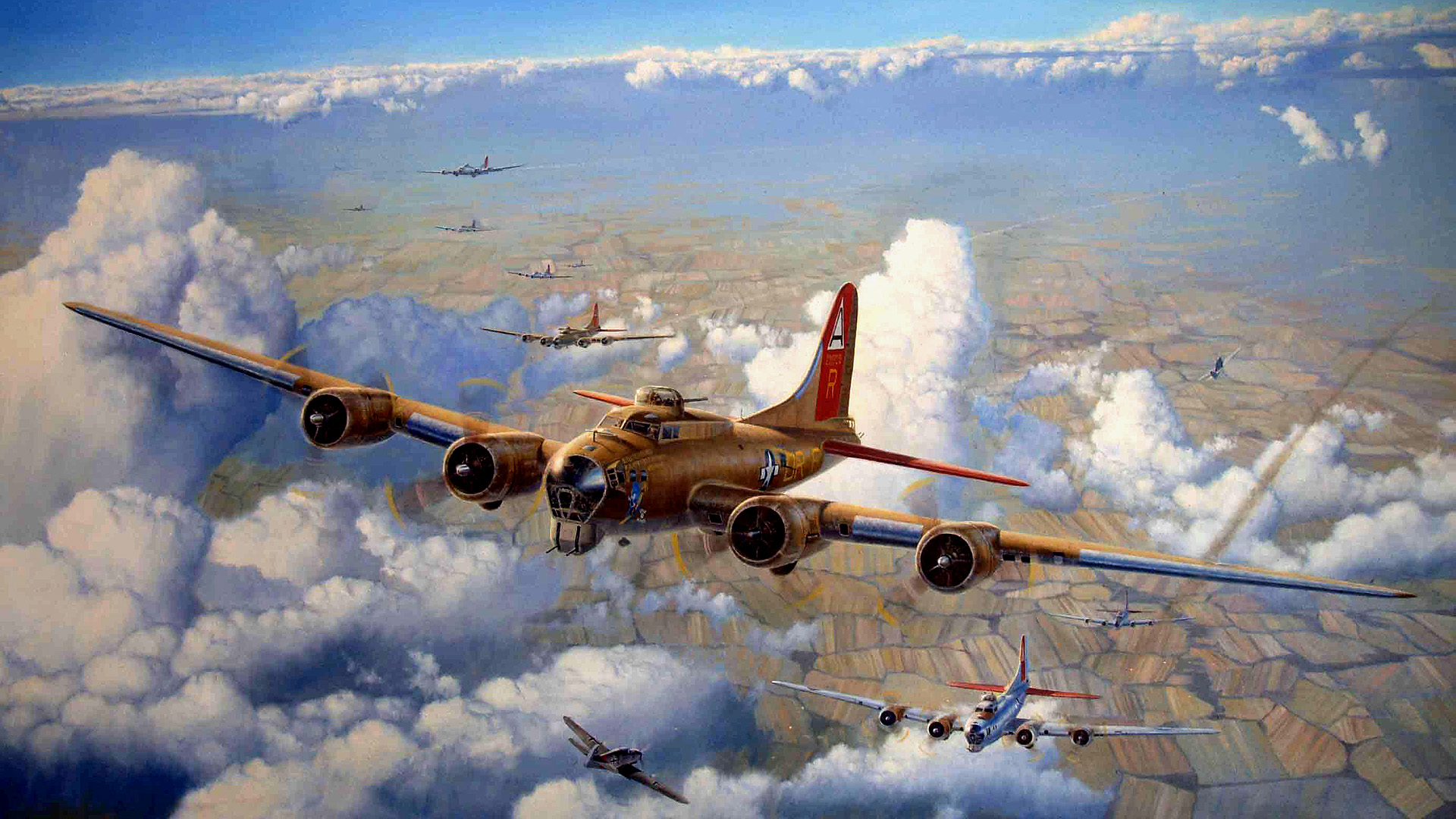 B 17 Flying Fortress Wallpaper 64 Boeing B-17 Flying ...