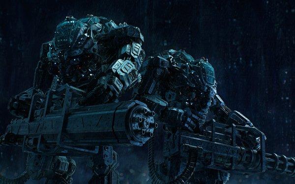 Sci Fi Mech Gatling Gun HD Wallpaper | Background Image