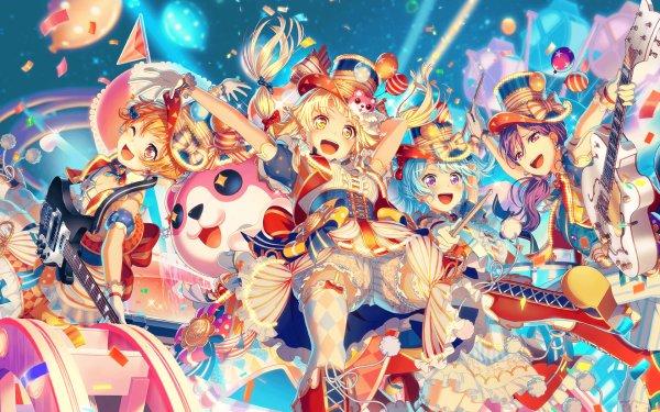 Anime BanG Dream! Hello Happy World! Kokoro Tsurumaki Michelle Kanon Matsubara Fondo de pantalla HD   Fondo de Escritorio