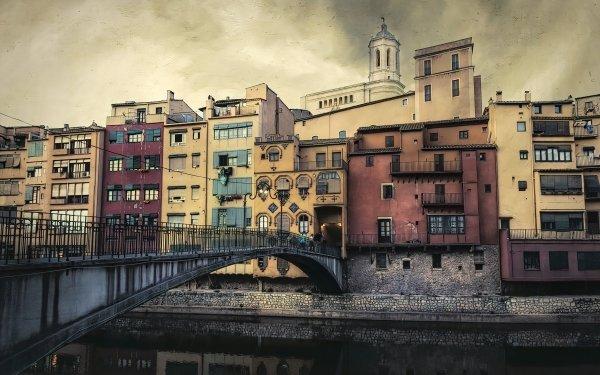 Man Made Girona Towns Spain Catalonia Pont d'en Gómez HD Wallpaper | Background Image
