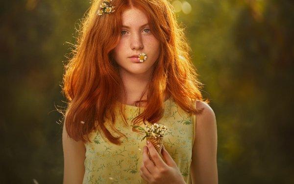 Women Model Models Woman Redhead Depth Of Field HD Wallpaper | Background Image