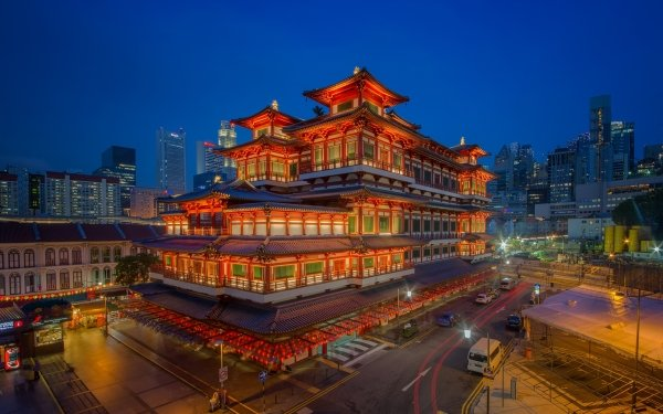 Religious Temple Temples Singapore Museum HD Wallpaper | Background Image