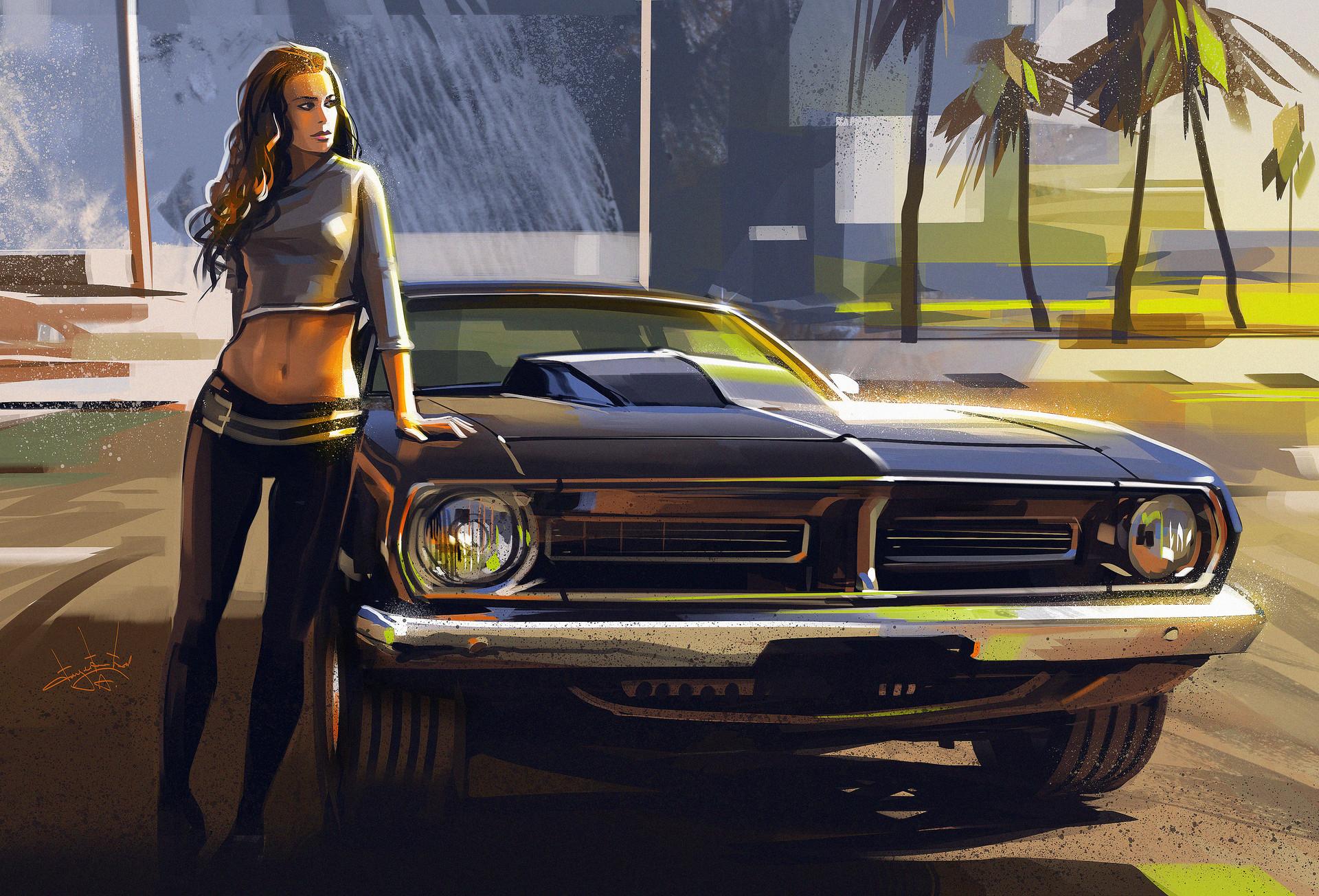 Girls & Cars HD Wallpaper | Background Image | 1920x1304 ...