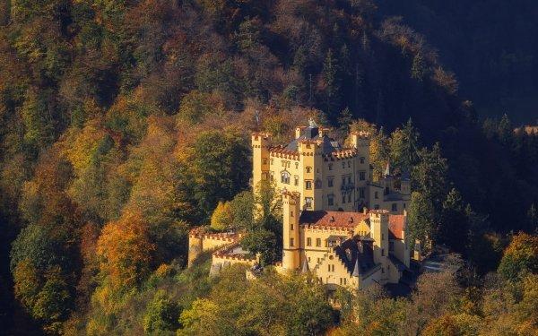 Man Made Hohenschwangau Castle Castles Germany Castle Bavaria HD Wallpaper | Background Image