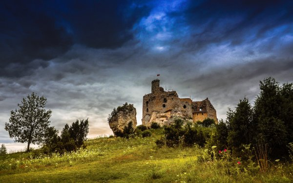 Man Made Castle Castles Architecture Sky Cloud Poland HD Wallpaper | Background Image