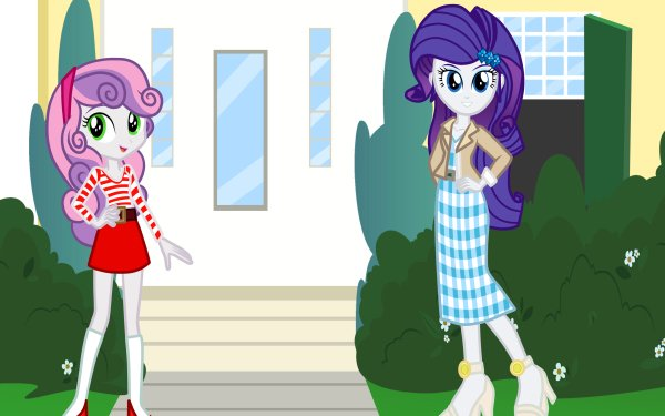 TV Show My Little Pony: Equestria Girls My Little Pony Sweetie Belle Rarity HD Wallpaper | Background Image
