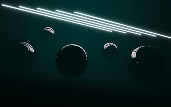 Abstract Ball Light Black HD Wallpaper | Background Image