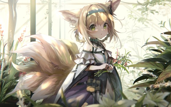 Video Game Arknights Suzuran Girl Blonde Animal Ears Green Eyes HD Wallpaper   Background Image