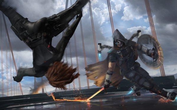 Video Game Marvel's Avengers The Avengers Black Widow Taskmaster HD Wallpaper | Background Image