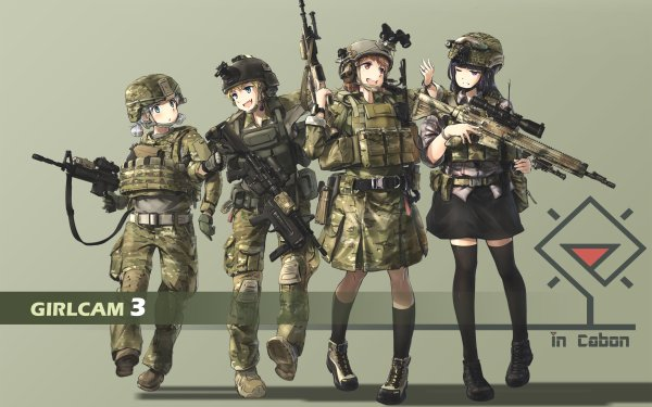 Anime Original M4 Carbine HD Wallpaper | Background Image