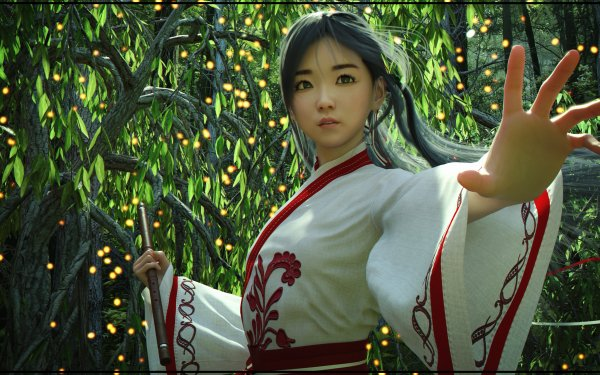 Fantasy Women Asian Kimono HD Wallpaper | Background Image
