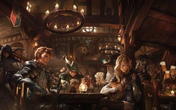 Fantaisie Tavern Medieval Fond d'écran HD | Image