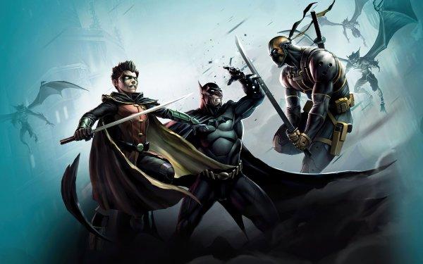 Movie Son of Batman Batman Movies Damian Wayne Deathstroke Robin DC Comics Slade Wilson HD Wallpaper   Background Image