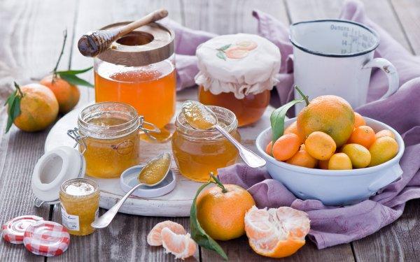 Food Still Life Jam Kumquat Mandarin HD Wallpaper | Background Image