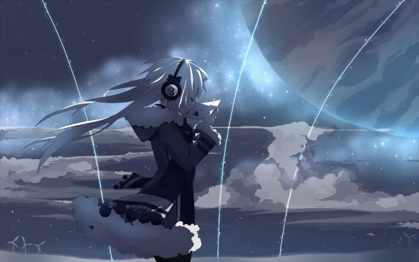 headphones wallpaper. Anime - Headphones Wallpaper