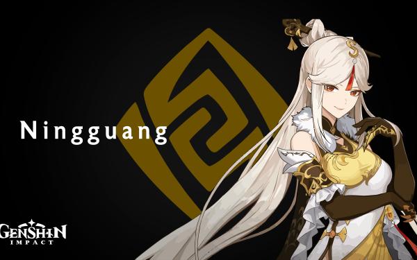 Video Game Genshin Impact Ningguang White Hair HD Wallpaper | Background Image
