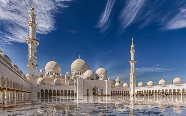Religious Sheikh Zayed Grand Mosque Mosques Abu Dhabi United Arab Emirates HD Wallpaper   Background Image