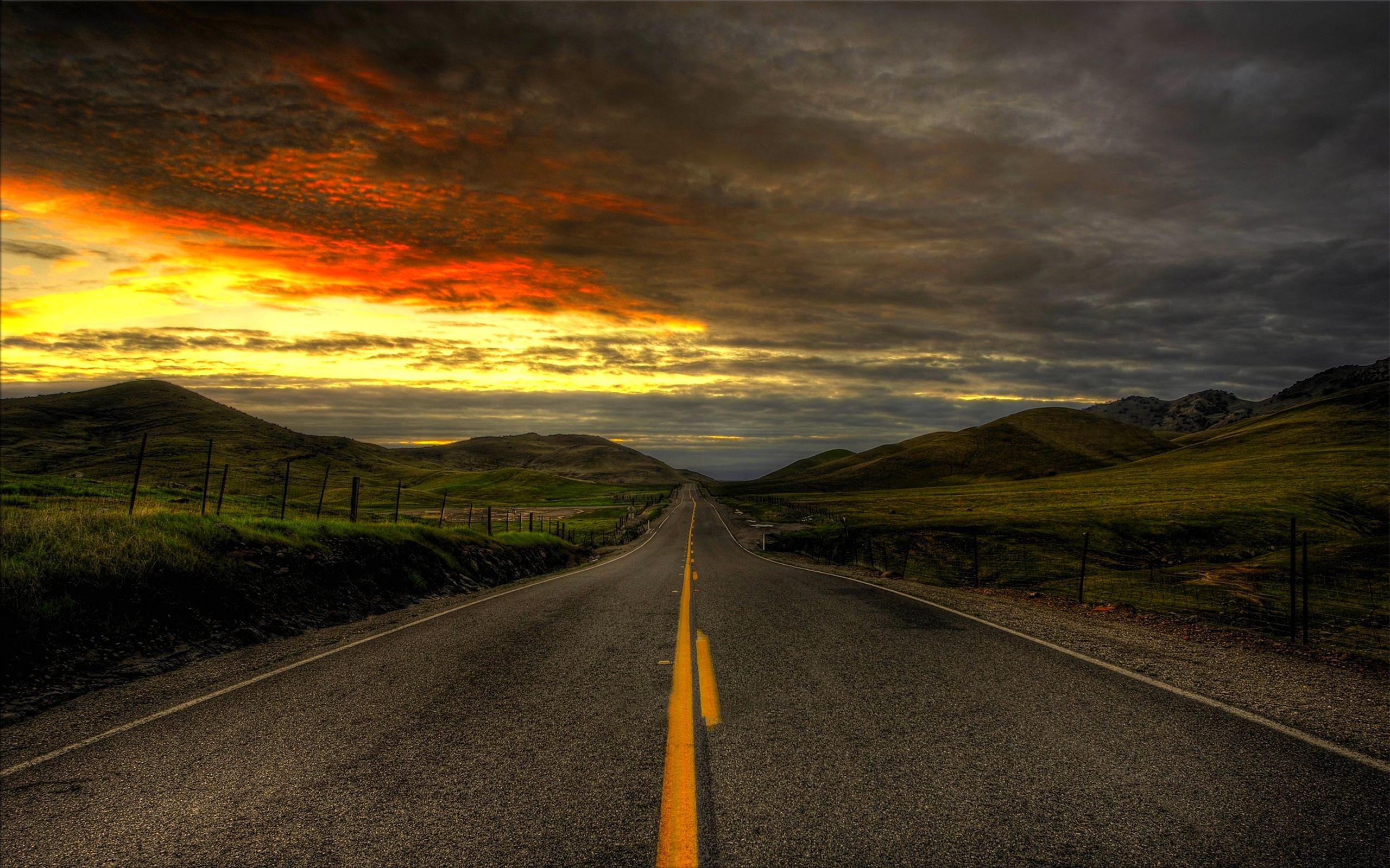 дорога даль холмы  № 788019  скачать