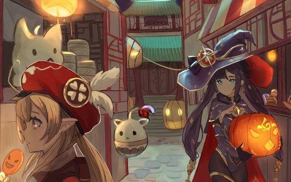 Video Game Genshin Impact Mona Klee HD Wallpaper | Background Image