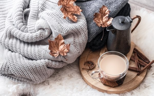 Food Coffee Cup Drink Cinnamon Still Life HD Wallpaper | Background Image