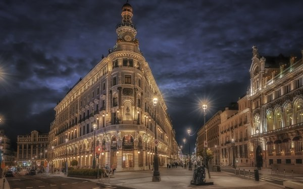 Man Made Hotel City Madrid HD Wallpaper   Background Image