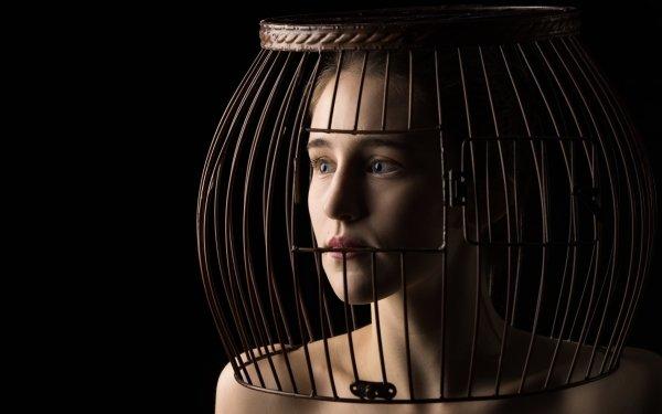 Women Mood Portrait Cage Face HD Wallpaper | Background Image