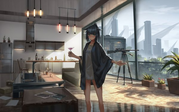 Video Game Arknights Sniper Room Jessica HD Wallpaper | Background Image