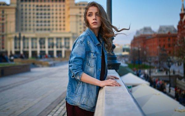 Women Model Models Woman Brunette Depth Of Field Ksenia Kokoreva HD Wallpaper | Background Image