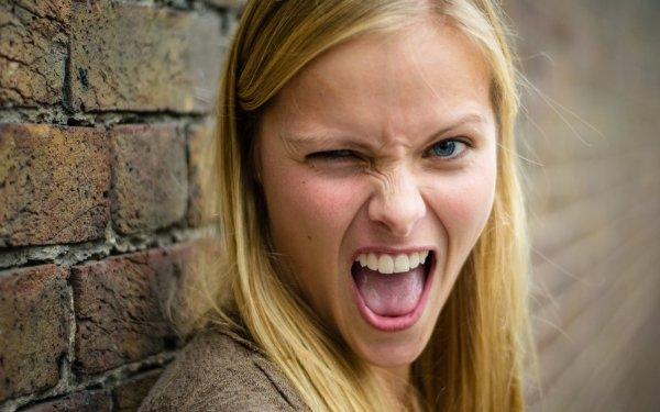 Women Blonde Face Mood Hair HD Wallpaper   Background Image