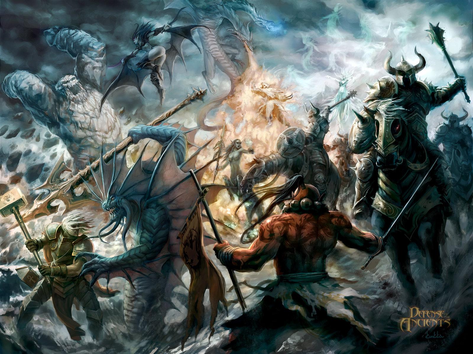 Fantasía - Batalla  Defense Of The Ancients Fondo de Pantalla
