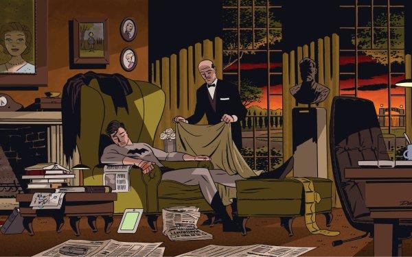 Comics Batman Bruce Wayne Alfred Pennyworth HD Wallpaper | Background Image