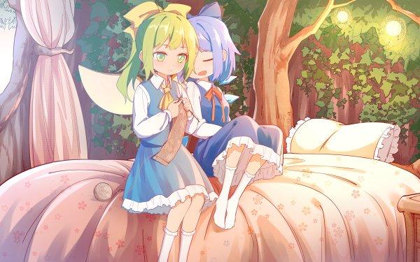 Anime Touhou Cirno Daiyousei HD Wallpaper | Background Image