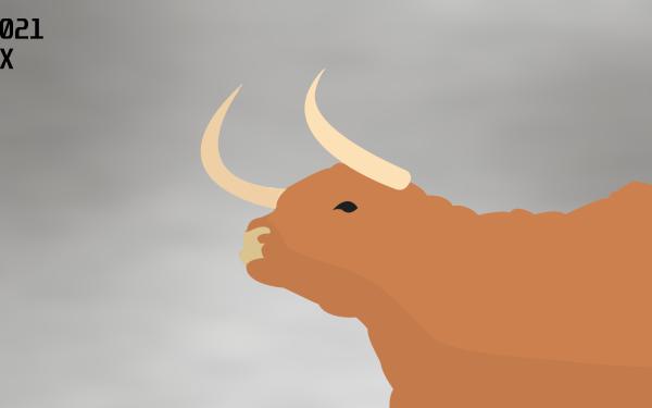 Animal Ox New Year 2021 Minimalist HD Wallpaper   Background Image