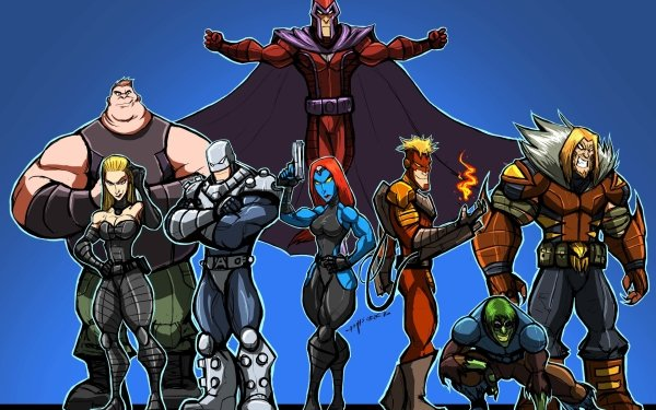 Comics X-Men Brotherhood of mutants Magneto Mystique Blob Sabertooth Toad Pyro Emma Frost HD Wallpaper | Background Image