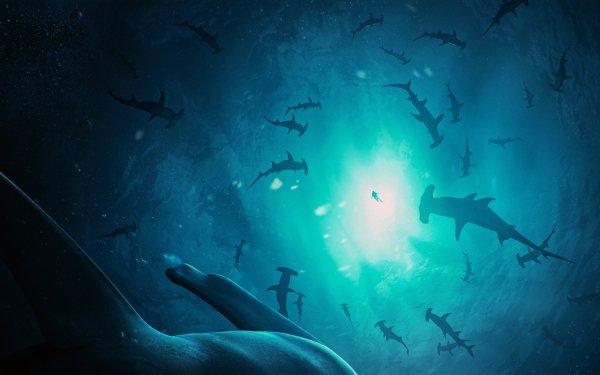 Fantasy Underwater Hammerhead Shark HD Wallpaper | Background Image