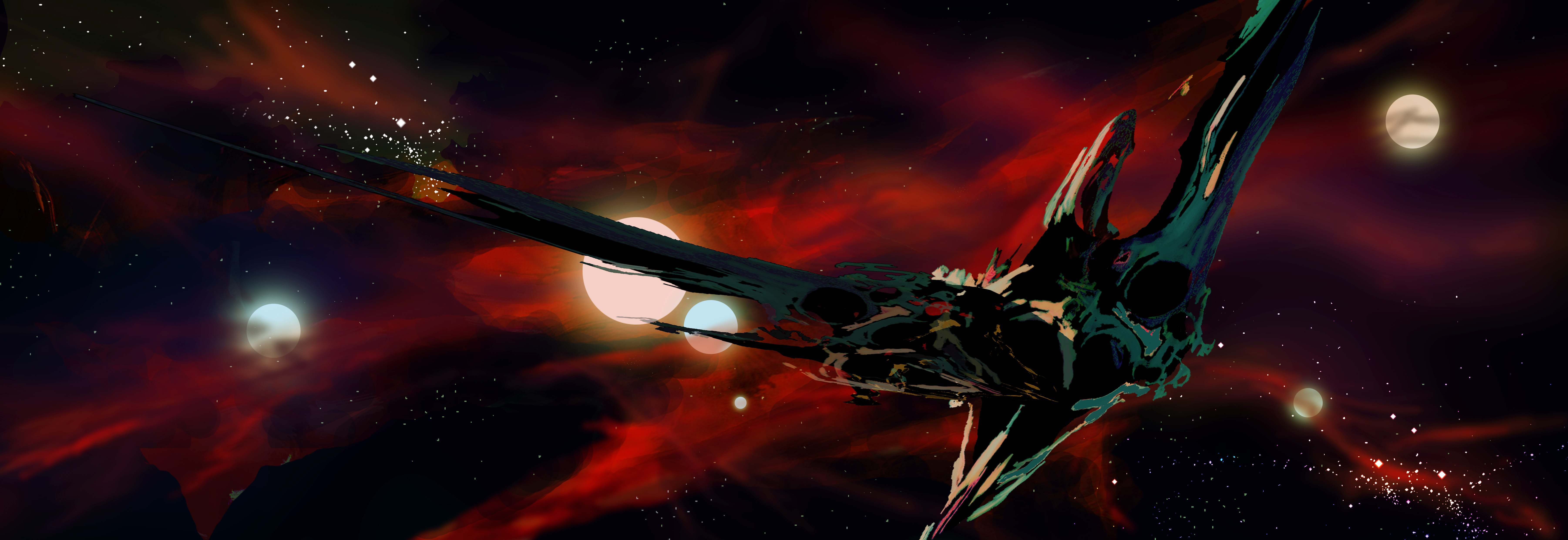 Spaceship 4k Ultra Hd Wallpaper Background Image 7205x2480