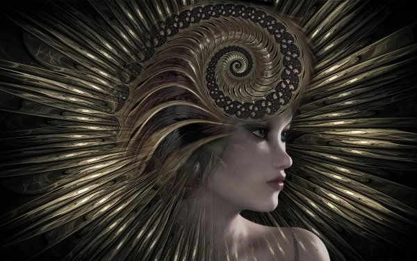 Women Artistic Head Profile Fractal HD Wallpaper | Background Image