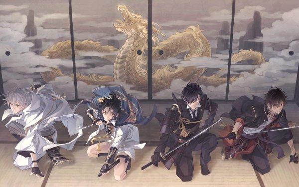 Anime Touken Ranbu Ookurikara Shokudaikiri Mitsutada Taikogane Sadamune Tsurumaru Kuninaga HD Wallpaper | Background Image